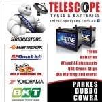 Race Sponsor 2018 - Telescope Tyres